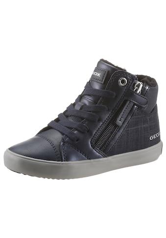 Geox Kids Sneaker »J Gisli Girl«, mit kariertem Muster an der Seite kaufen
