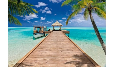Komar Fototapete »Beach Resort«, bedruckt-Wald-geblümt, ausgezeichnet lichtbeständig kaufen