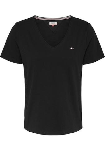 TOMMY JEANS V - Shirt »TJW SLIM JERSEY V NECK« kaufen