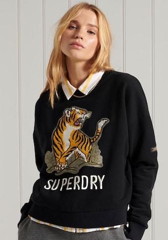Superdry Sweater »MILITARY NARRATIVE SWEATER«, mit Tiger-Druck kaufen