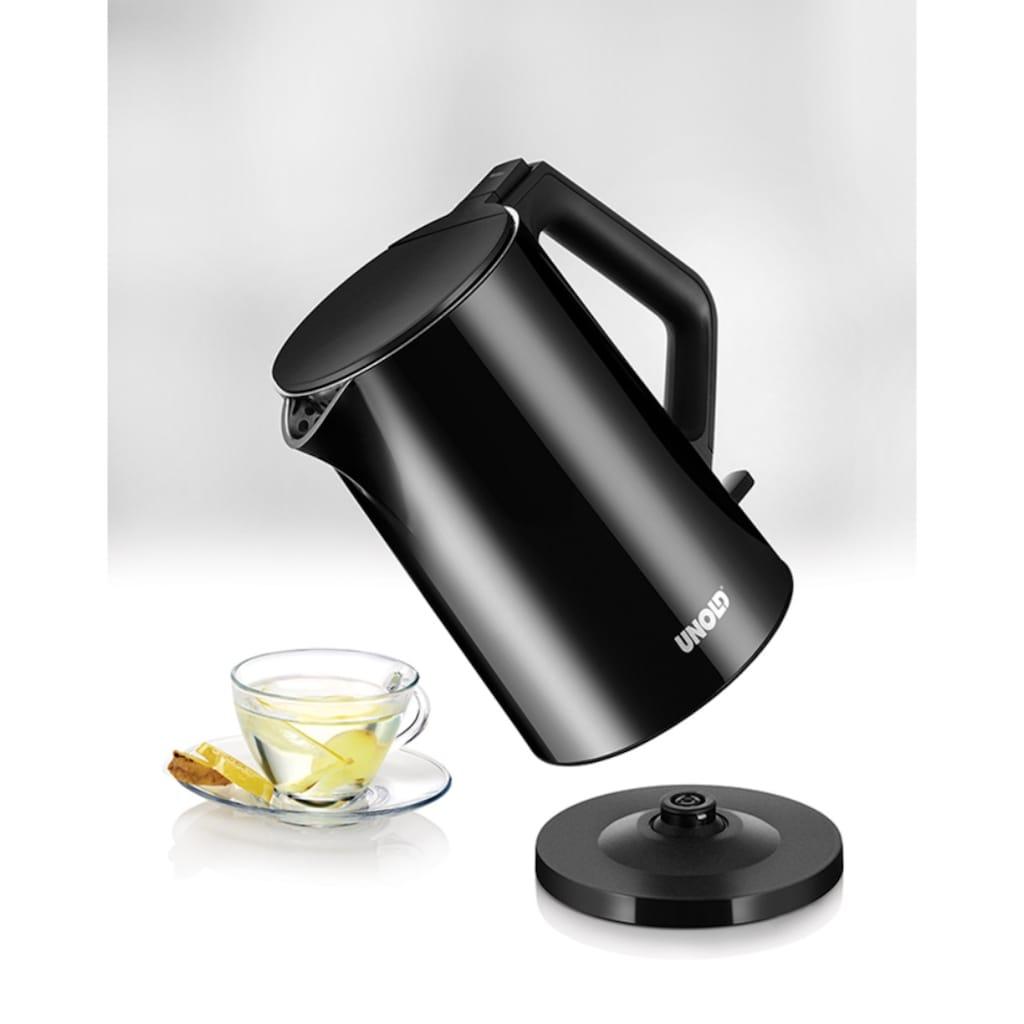 Unold Wasserkocher »Blitzkocher Design Black«, 2200 W, Edelstahl, 1,4 Liter, schwarz, Abschaltautomatik