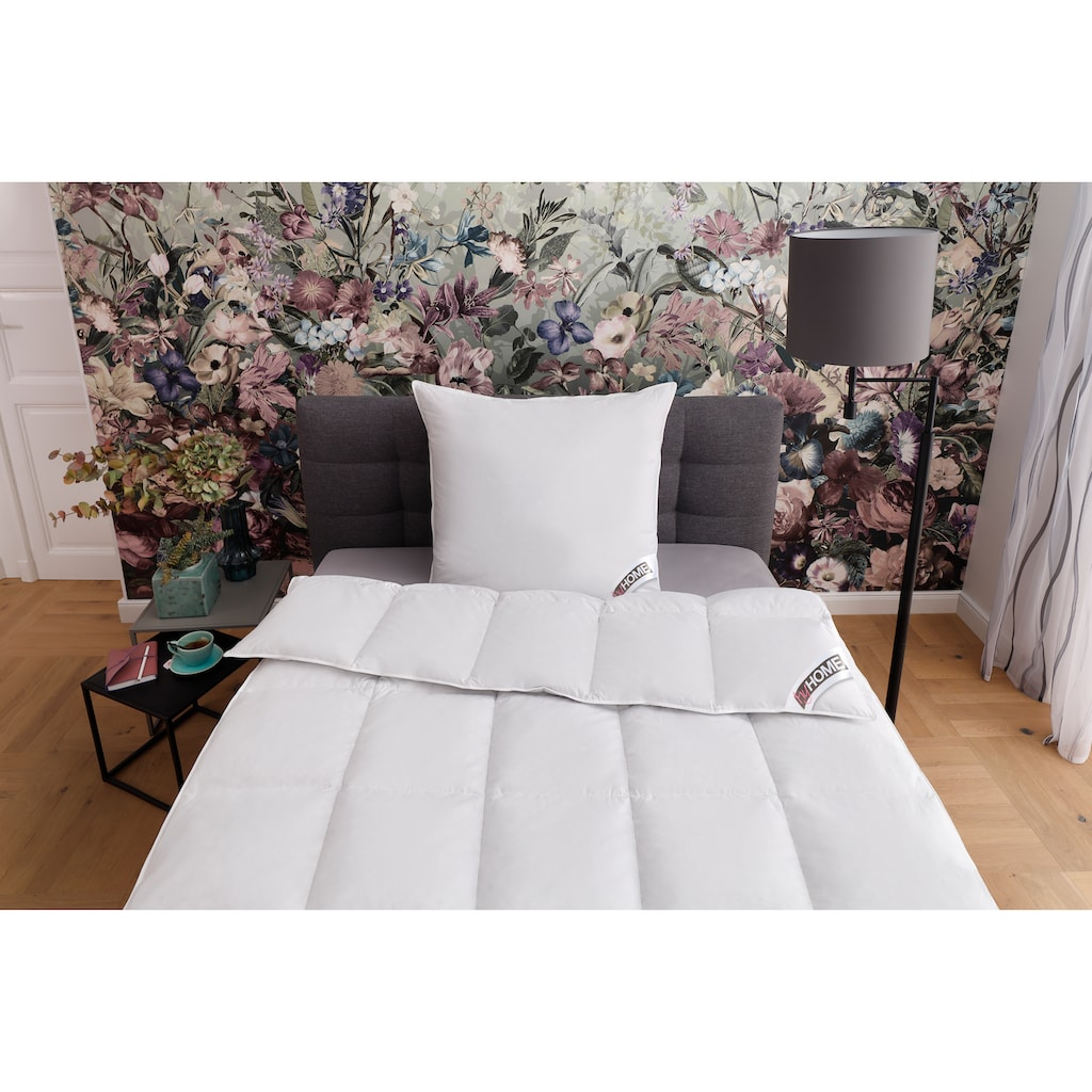my home Federbettdecke + Federkissen »Amy«, 135x200 cm Bettdecke, Spitzenqualität zum Superpreis
