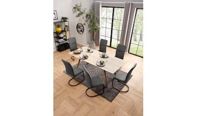 my home Freischwinger »Amabella«, 2er Set, in zwei Bezugsqualitäten und verschiedenen Farbvarianten kaufen
