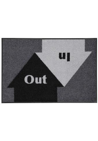wash+dry by Kleen-Tex Fußmatte »In & Out«, rechteckig, 9 mm Höhe, Schmutzfangmatte,... kaufen