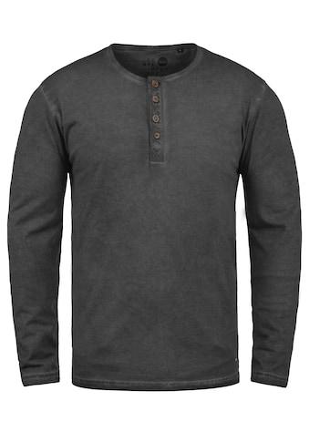 Solid Rundhalsshirt »Timur«, Longsleeve mit Used-Look Waschung kaufen