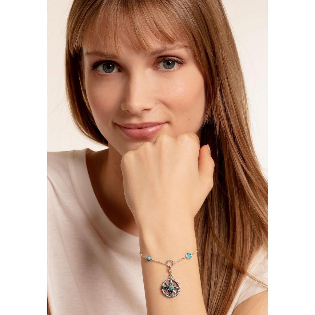 THOMAS SABO Charm-Armband »Türkise Steine, X0271-646-7-L19v«, mit imit. Türkis und Zirkonia