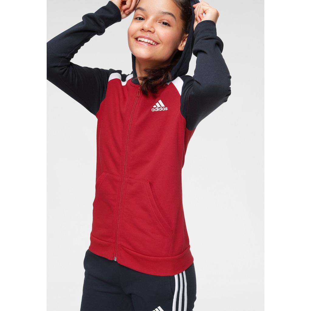 adidas Performance Jogginganzug »GIRLS HOOD COTTON TRACKSUIT« (Set, 2 tlg.)