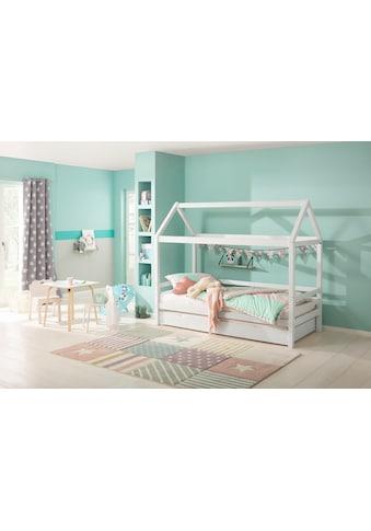 Lüttenhütt Kinderbett »Alpi«, aus massivem Kiefernholz, inklusive Bettschubkasten und... kaufen