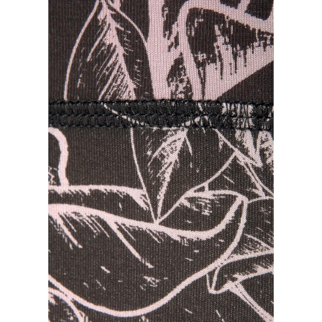 LASCANA ACTIVE Leggings, mit grafischen Blumenmuster