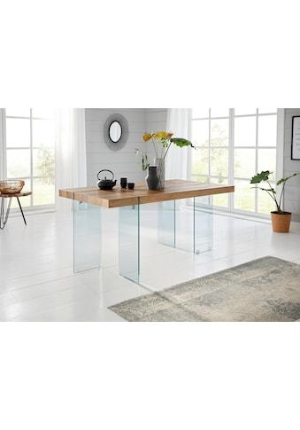Esstisch »Travis«, Breite 160 cm, Gestell aus Glas kaufen