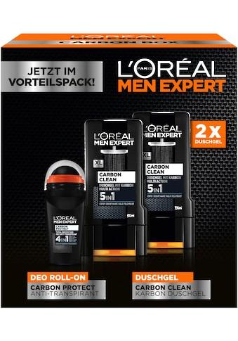 L'ORÉAL PARIS MEN EXPERT Gesichtreinigungs-Set »Carbon Protect & Clean Box«, (3 tlg.),... kaufen