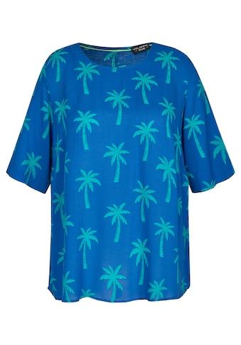 VIA APPIA DUE Sommerliche Bluse mit Allover-Palmen-Print kaufen
