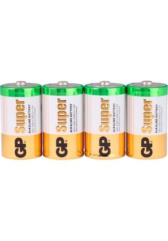 GP Batteries Batterie »Super Alkaline D«, LR20, 1,5 V, (Set, 4 St.) kaufen