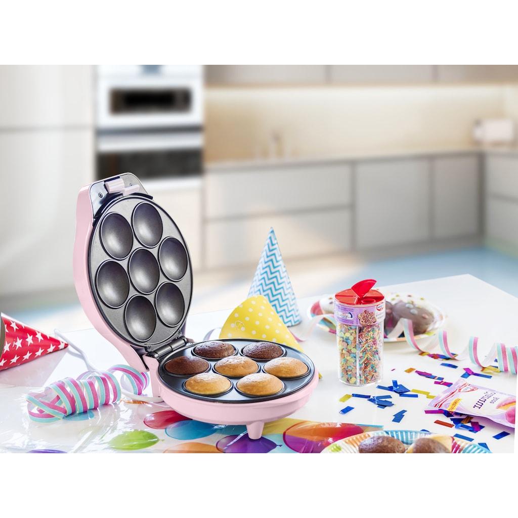 bestron Cupcake-Maker »Sweet Dreams«, 700 W, im Retro Design, Antihaftbeschichtung, Rosa