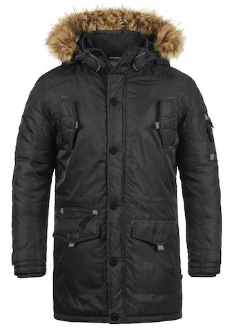Solid Winterjacke »Betto«, lange Jacke mit abnehmbarem Kunstfellkragen kaufen
