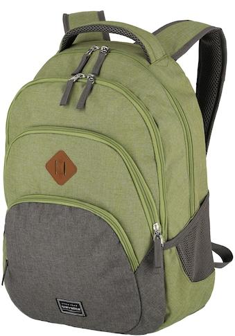 travelite Cityrucksack »Basics, grün/grau« kaufen