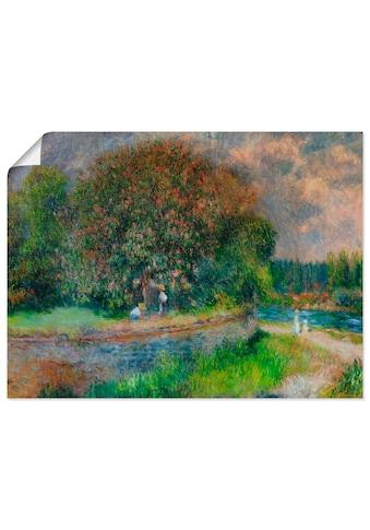 Artland Wandbild »Blühender Kastanienbaum«, Wiesen & Bäume, (1 St.), in vielen Größen... kaufen