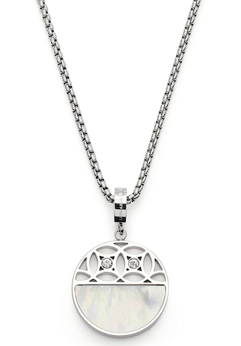 LEONARDO Kette mit Einhänger »Larina, 019565«, mit Kristallglas - mit Perlmutt kaufen