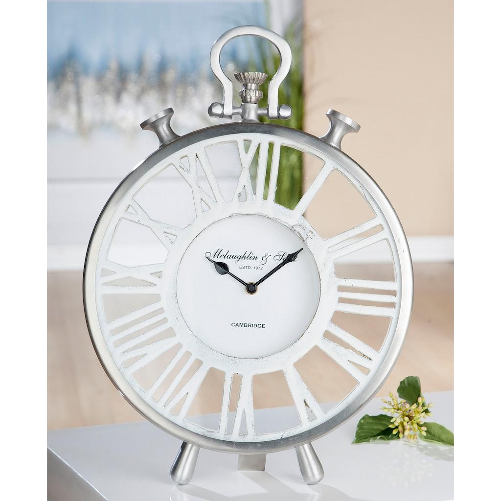 GILDE Standuhr »Uhr Atona«, Höhe 42 cm, rund, römische Ziffern, Wohnzimmer