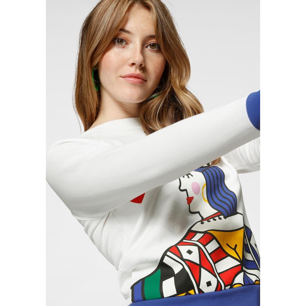 United Colors of Benetton Sweatshirt, mit Logo-Flag in der linken Seitennaht