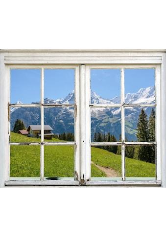 queence Wandsticker »Hütte in den Bergen« kaufen
