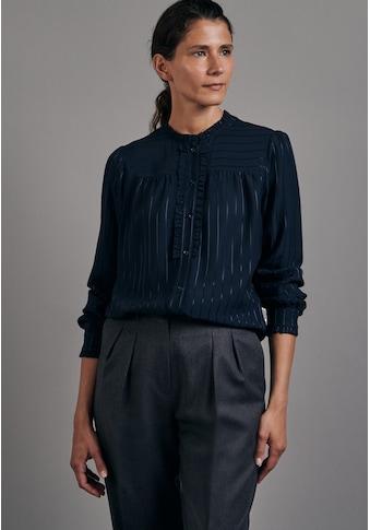 seidensticker Klassische Bluse »Schwarze Rose«, Langarm Rundhals Streifen kaufen