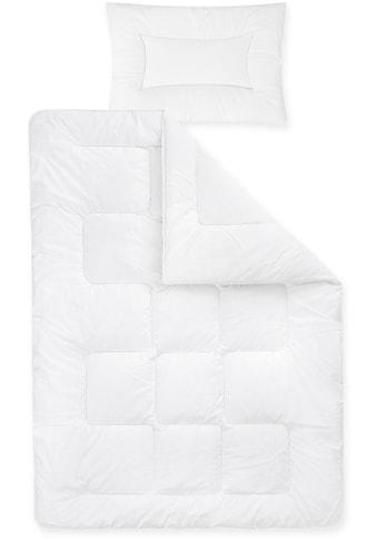 Ganzjahresbettdecke + Kopfkissen, »Basic«, Zöllner kaufen