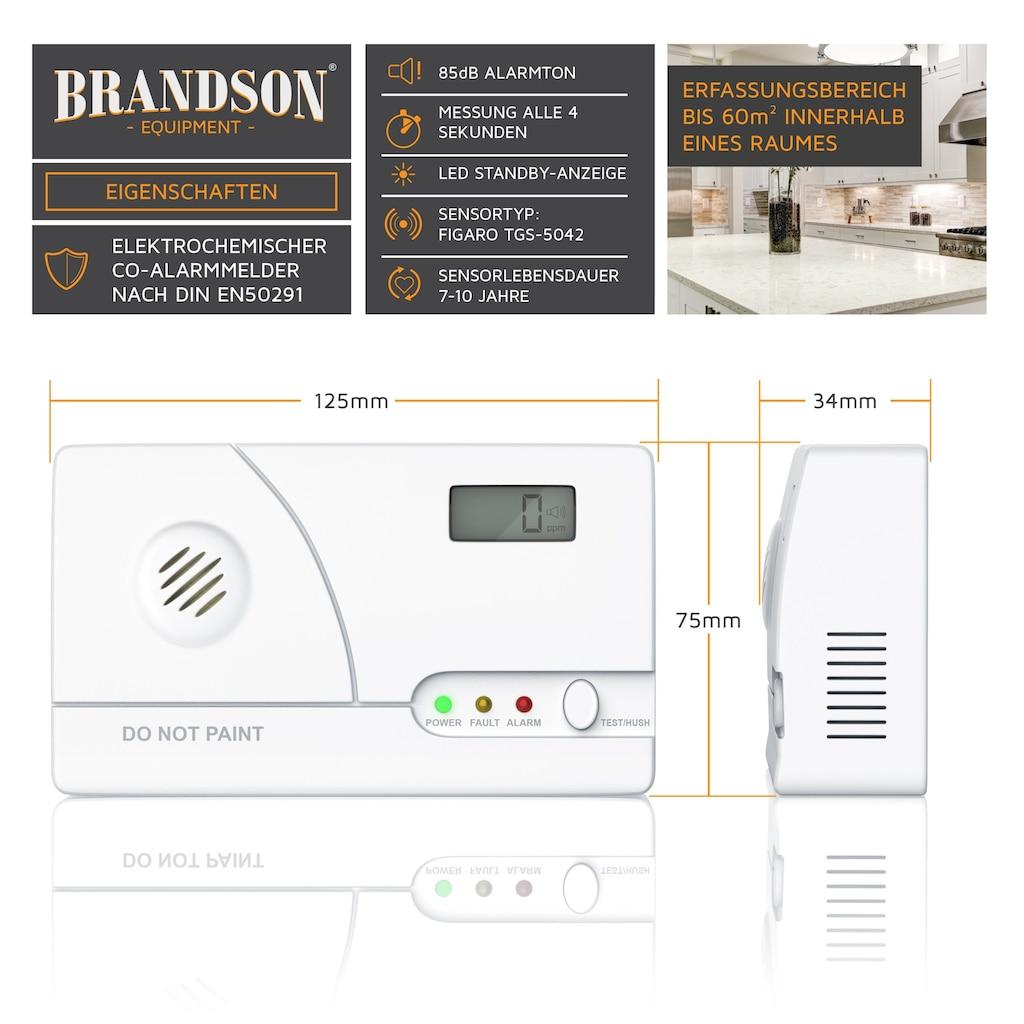 Brandson Kohlenmonoxidmelder, LCD-Display, Langzeitmessung