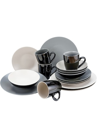 CreaTable Kombiservice »Very Cool«, (Set, 16 tlg.), coole Farben kaufen