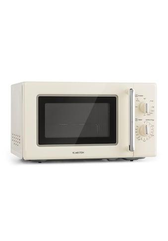 Klarstein Retro Mikrowelle Mikrowellenofen Grill Timer 20l 1000W Ø25,5cm »Caroline« kaufen
