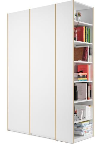 Müller SMALL LIVING Kleiderschrank »Modular Plus Variante 2«, inklusive links oder rechts montierbarem Seitenregal kaufen
