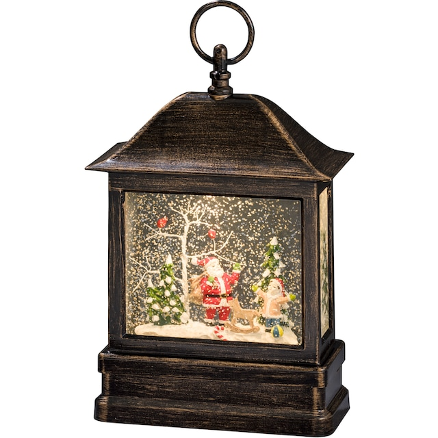 KONSTSMIDE,LED Laterne»Schneelaterne mit Weihnachtsmann und Kind«,