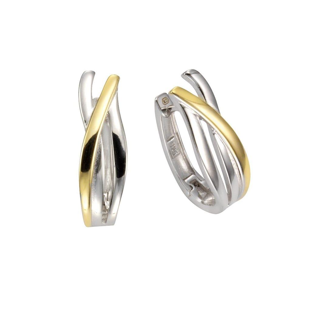 Vivance Klappcreolen »925/- Sterling Silber vergoldet«, rhodiniert+vergoldet (teil)