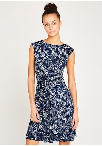 Apricot Druckkleid »Feather Leaf Print Tie Front Dress« kaufen