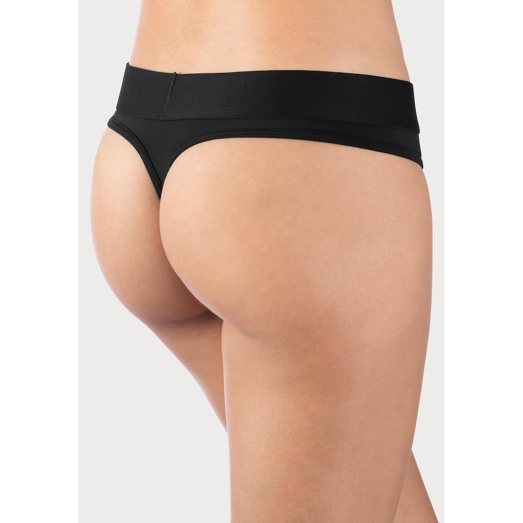 Calvin Klein String »TONAL LOGO«, mit farblich passendem Logobündchen