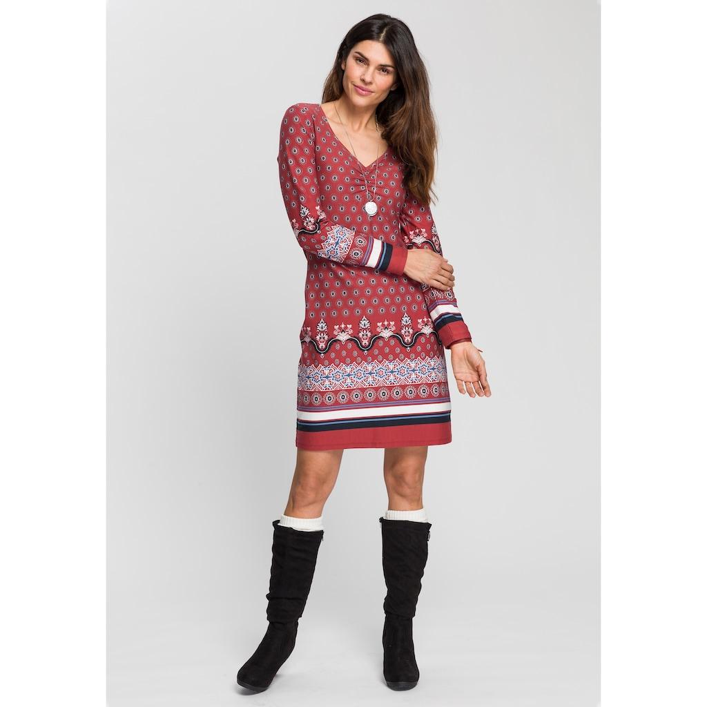 Boysen's Jerseykleid, mit ornamentalem Alloverprint