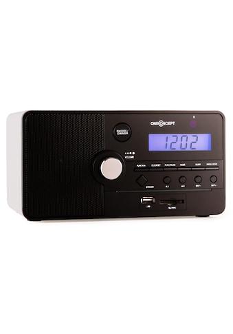 ONECONCEPT Radio Wecker USB AUX SD MP3 UKW Tuner Fernbedienung Holzgehäuse »Luzern« kaufen