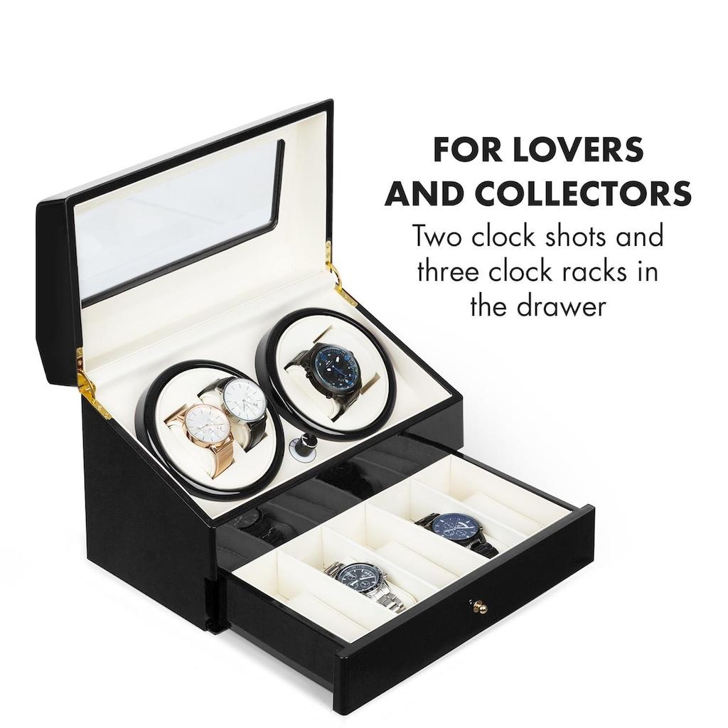 Klarstein Uhrenbeweger 4 Uhren 4 Modi Schubfach schwarz