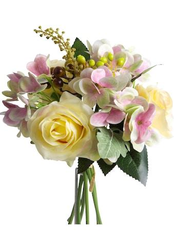 Botanic-Haus Kunstblume »Rosen-Hortensienstrauß« kaufen
