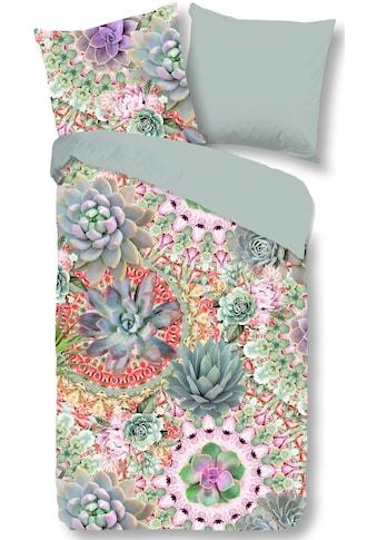 good morning Wendebettwäsche »Desert Flower«, mit Sukkulenten kaufen
