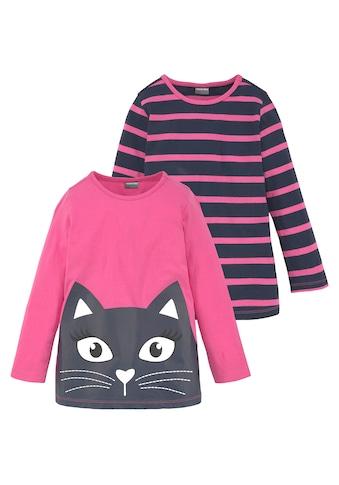 KIDSWORLD Longshirt, mit großem Print und schönen Streifen kaufen