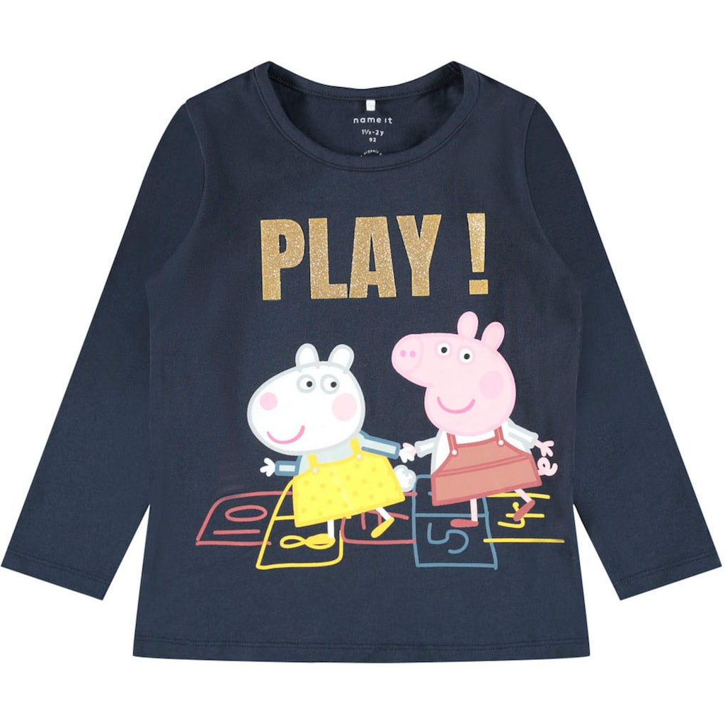 Name It Langarmshirt, mit Peppa Pig Motiv