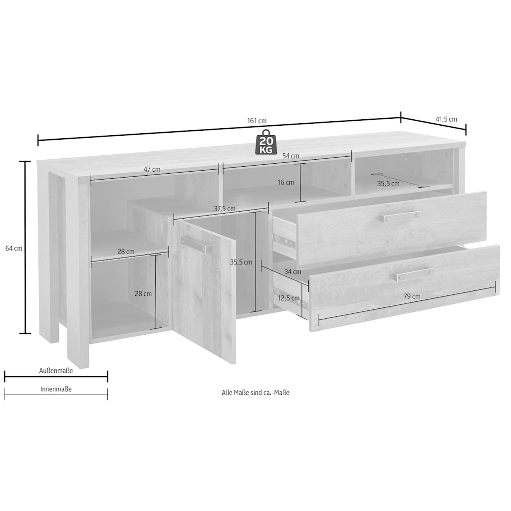 Lowboard »Clif«, Breite 161 cm