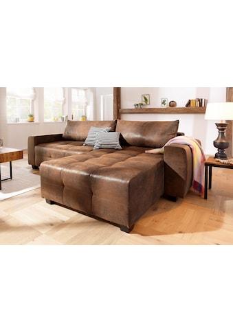 Home affaire Ecksofa »Bella«, wahlweise mit Bettfunktion und Bettkasten, Steppung im Sitzbereich kaufen