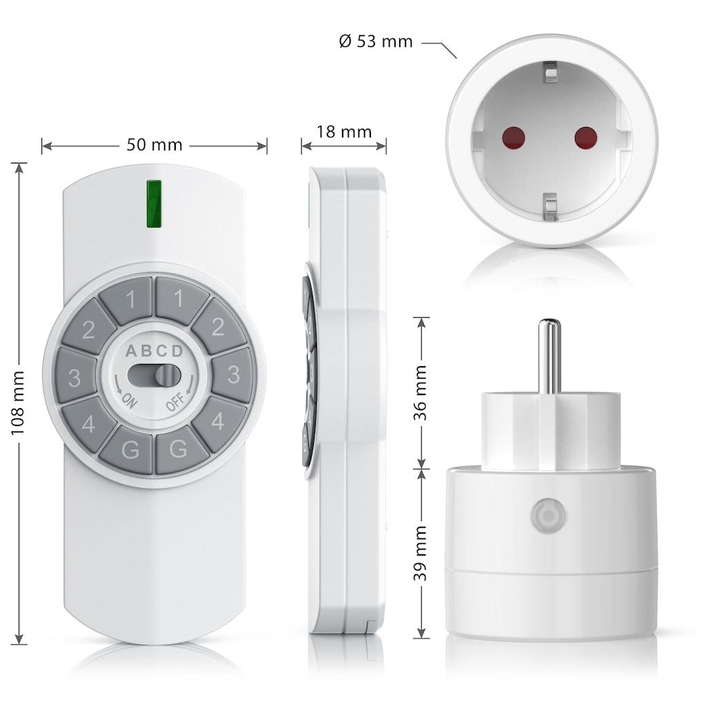 Bearware Funksteckdosen-Set für den Innenbereich »3x Funksteckdosen + Fernbedienung / max. 25m«