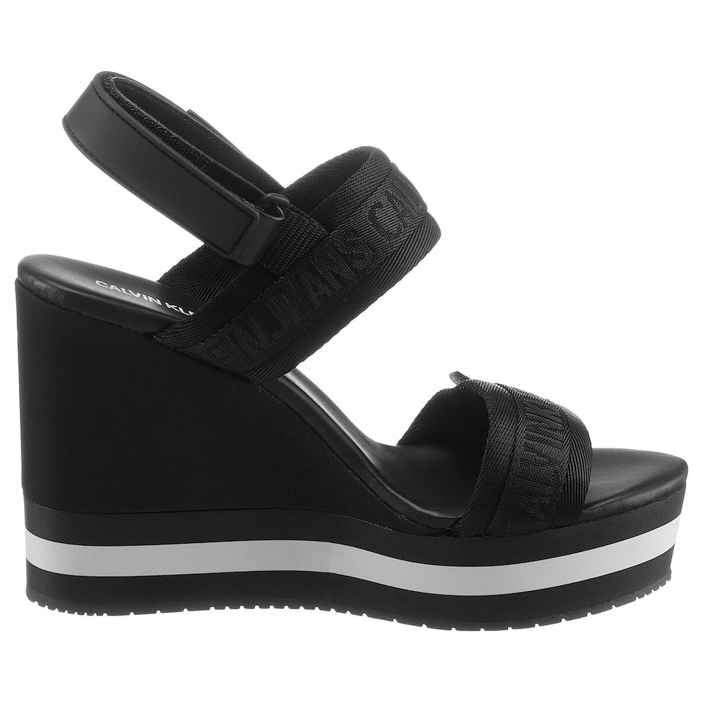 Calvin Klein High-Heel-Sandalette »SADIE«, mit mehrfarbiger Laufsohle