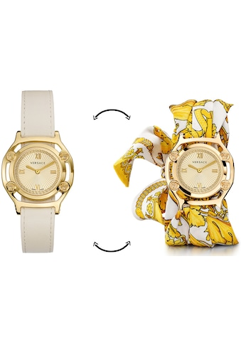 Versace Schweizer Uhr »Medusa Frame, VEVF00620«, (Set, 2 tlg., Uhr mit Lederband und Seidentuch) kaufen
