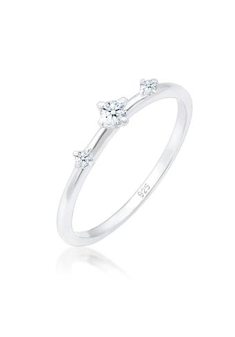 Diamore Diamantring »Verlobung Vintage Trio Diamant (0.09ct) 925 Silber« kaufen