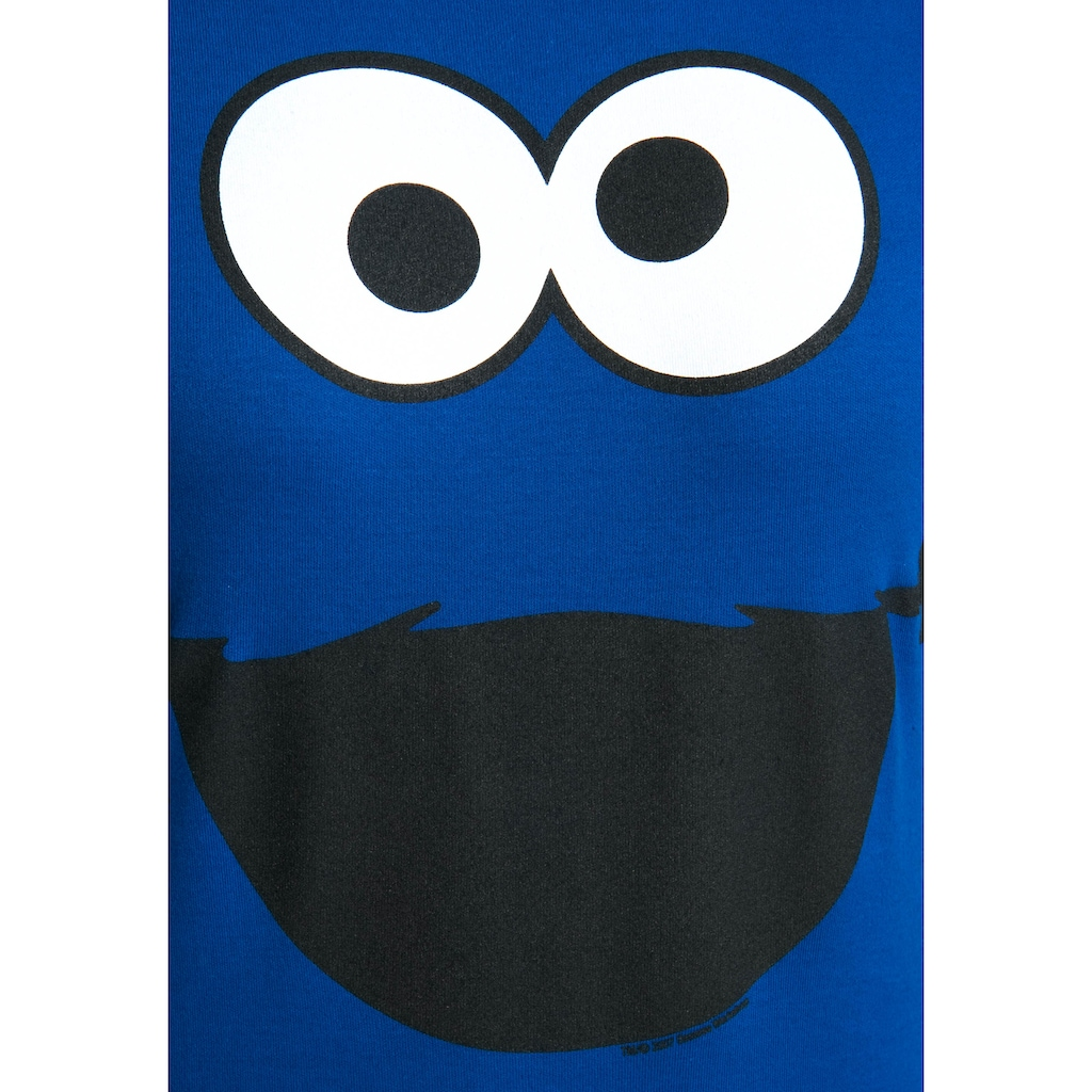 LOGOSHIRT T-Shirt »Cookie Monster – Face«, mit lizenzierten Originaldesign