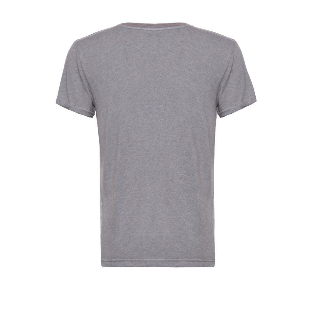 KingKerosin T-Shirt »Pegasus«, mit Frontprint, Enzymwash-Effekt und Ärmelaufschlag